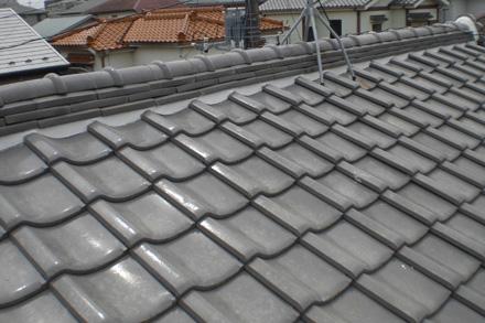 瓦屋根補修後