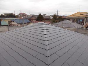 屋根遮熱塗装後