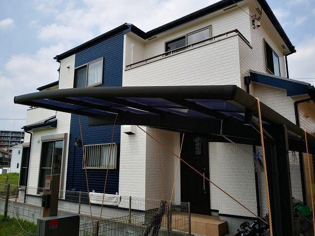 越谷市の一戸建て住宅(塗装後)