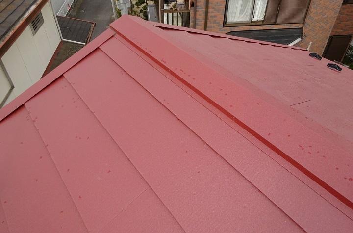 屋根リフォーム後(ガルバリウム鋼板)