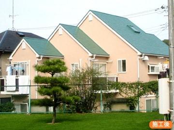 シリコン塗料による家の塗装