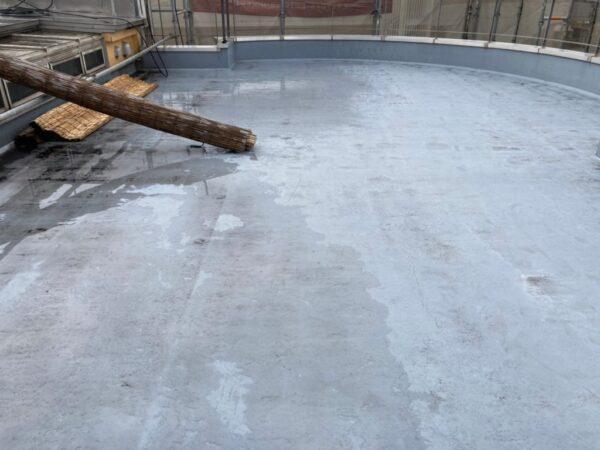 屋上のウレタン防水リフォーム前